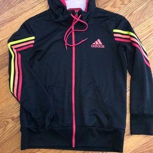 Adidas full zip black hoodie